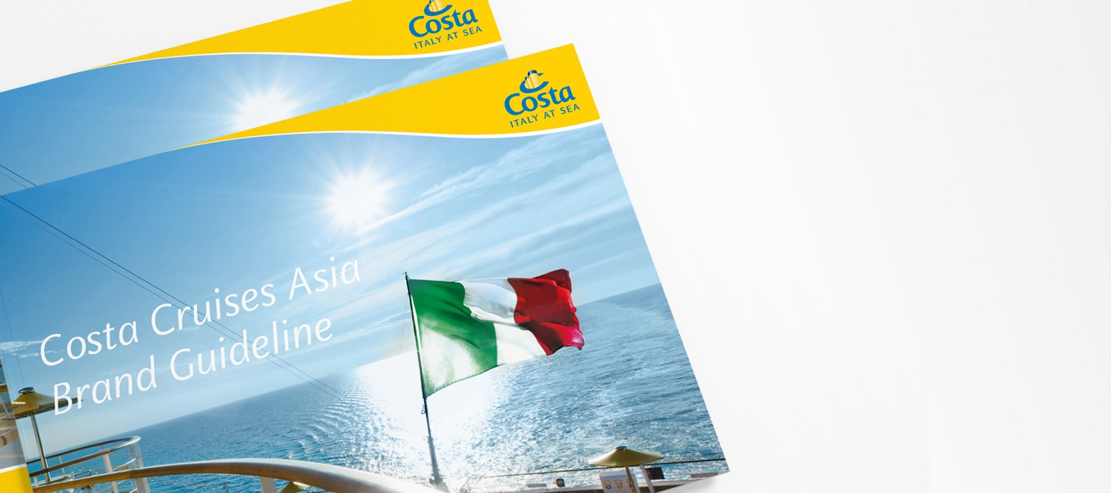 Brand book design for Costa cruises
