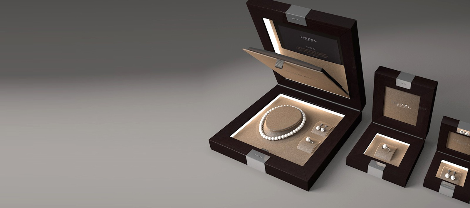 Hodel jewellery packaging design