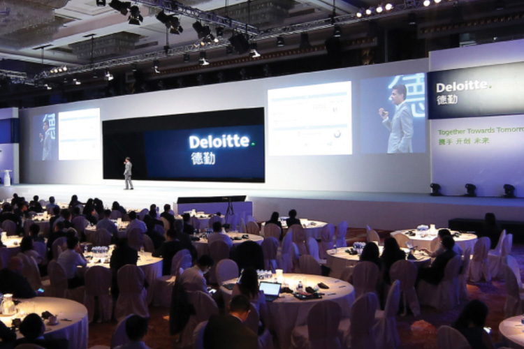 Deloitte corporate experiential marketing event