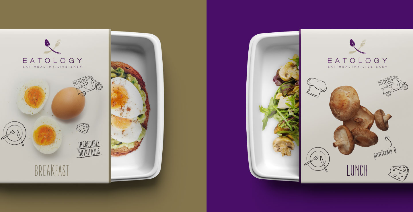 Eatology food brand delivery packaging design